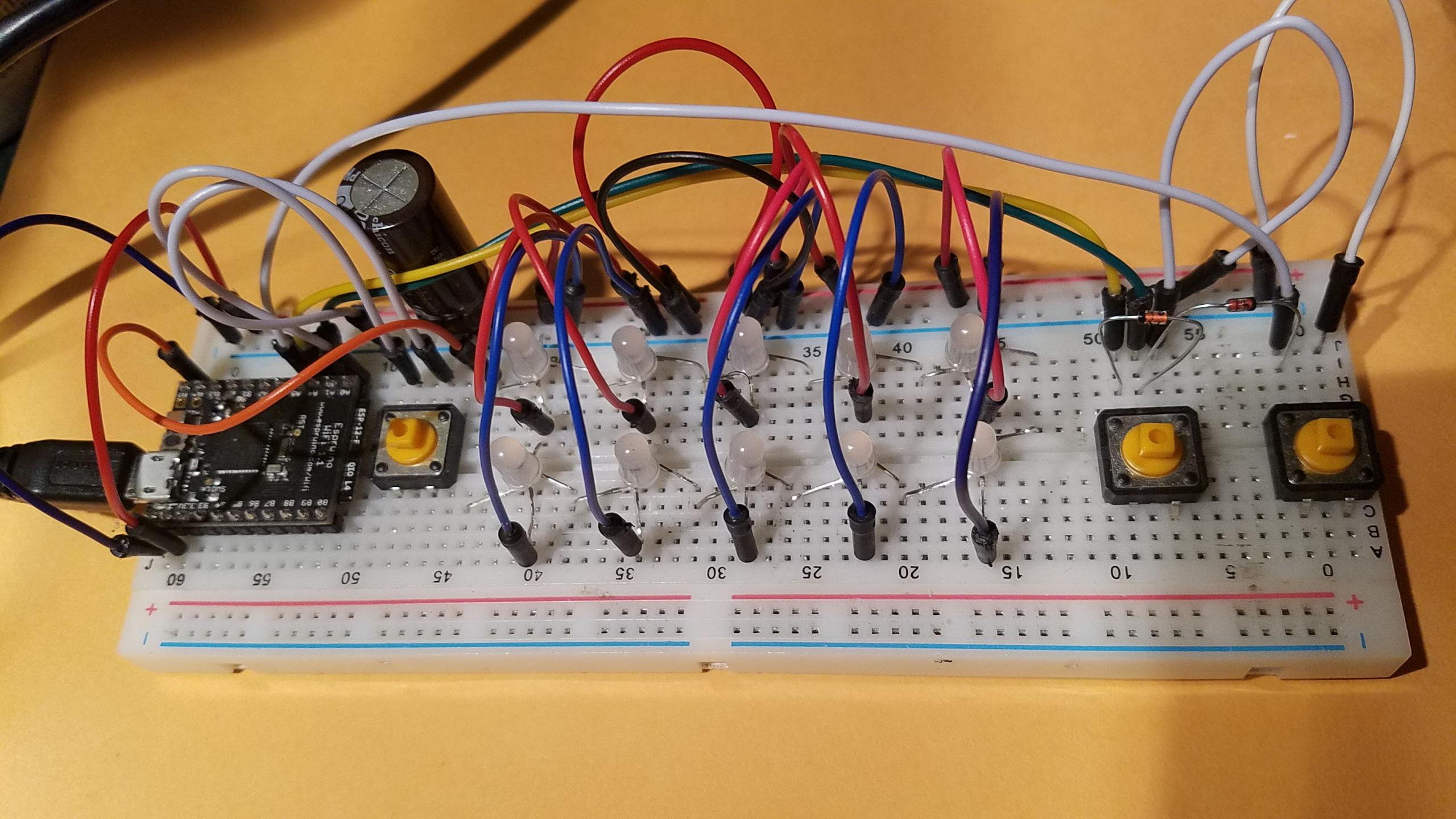 Retro Horse Derby Game Board with Neopixels showing Reaction Game